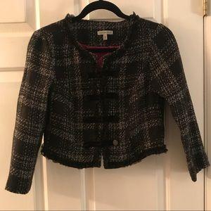 Crop tweed blazer